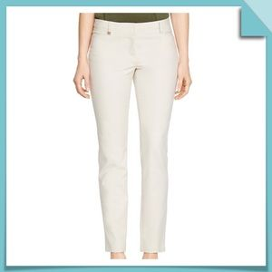 WHBM Perfect Form Slim Ankle Pants Ivory Size 8L
